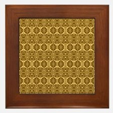 Elegant Vintage Gold and Brown Framed Tile