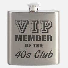 40's Club Birthday Flask