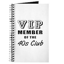 40's Club Birthday Journal