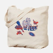 Fourth of July Fireworks Tote Bag