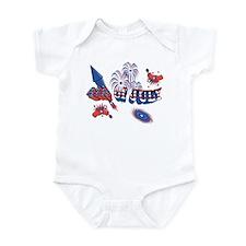 Fourth of July Fireworks Infant Bodysuit