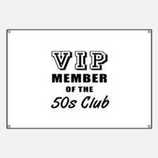 50's Club Birthday Banner