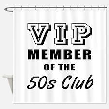 50's Club Birthday Shower Curtain