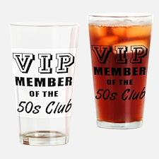 50's Club Birthday Drinking Glass