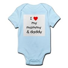 I love my mommy & daddy Onesie