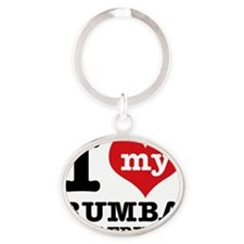 Rumba dancing designs Oval Keychain