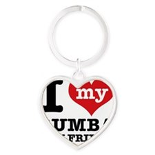 Rumba dancing designs Heart Keychain