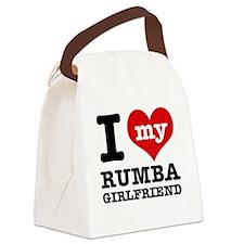 Rumba dancing designs Canvas Lunch Bag