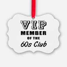 60's Club Birthday Ornament