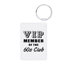 60's Club Birthday Keychains