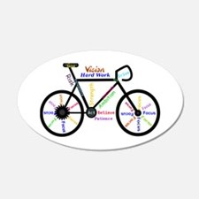 Bike made up of words to mot Wall Decal