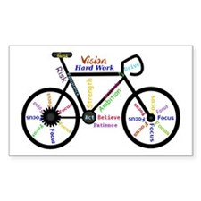 Bike made up of words to motiv Decal