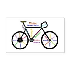 Bike made up of words to moti Rectangle Car Magnet