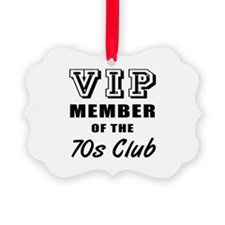 70's Club Birthday Ornament