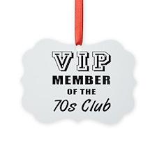 70's Club Birthday Picture Ornament