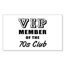 70's Club Birthday Decal
