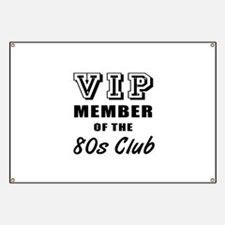 80's Club Birthday Banner