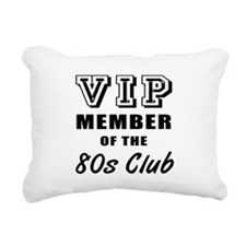 80's Club Birthday Rectangular Canvas Pillow