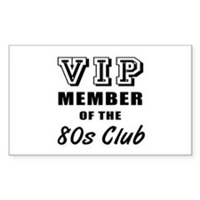 80's Club Birthday Decal