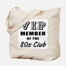 80's Club Birthday Tote Bag