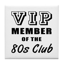 80's Club Birthday Tile Coaster