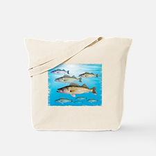 Walleye school Tote Bag