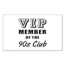90's Club Birthday Decal
