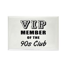 90's Club Birthday Rectangle Magnet