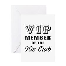 90's Club Birthday Greeting Card