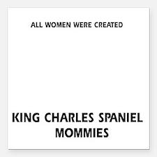 "King Charles Spaniel dog Square Car Magnet 3"" x 3"""