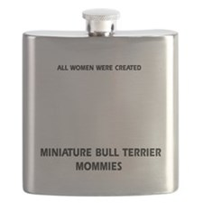 Miniature Bull Terrier Designs Flask
