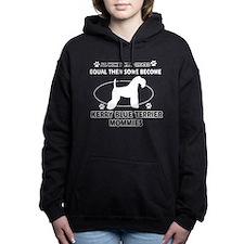 Kerry Blue Terrier Dog Breed Des Hooded Sweatshirt