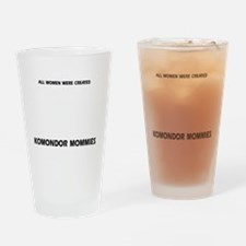 Komondor dog breed designs Drinking Glass