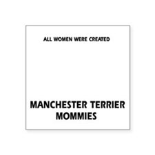 "Manchester Terrier dog desi Square Sticker 3"" x 3"""