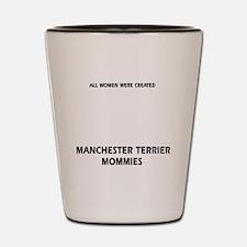 Manchester Terrier dog designs Shot Glass
