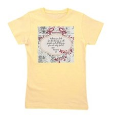 Inspirational Beauty Quote Girl's Tee