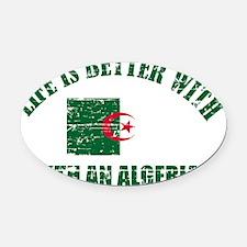Algerian flag designs Oval Car Magnet