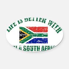 South Africa flag designs Oval Car Magnet