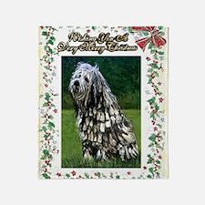 Bergamasco Dog Christmas Throw Blanket