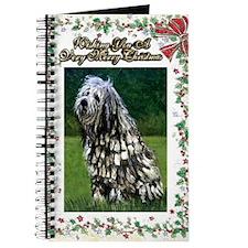 Bergamasco Dog Christmas Journal