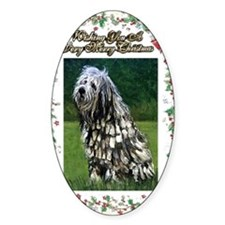 Bergamasco Dog Christmas Decal