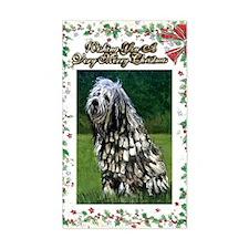 Bergamasco Dog Christmas Decal