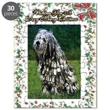 Bergamasco Dog Christmas Puzzle