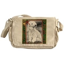 Bedlington Terrier Dog Christmas Messenger Bag