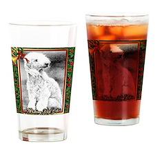 Bedlington Terrier Dog Christmas Drinking Glass