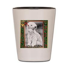Bedlington Terrier Dog Christmas Shot Glass