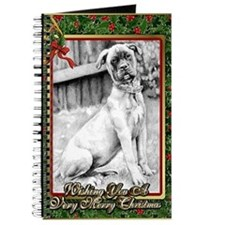 Bullmastiff Dog Christmas Journal