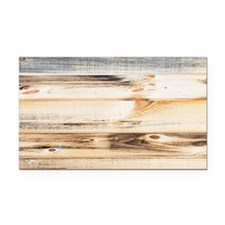 Wood Texture Rectangle Car Magnet