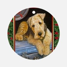 Airedale Terrier Dog Christmas Round Ornament