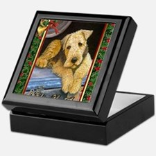 Airedale Terrier Dog Christmas Keepsake Box